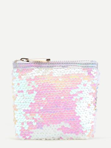 Shein Sequin Overlay Coin Purse