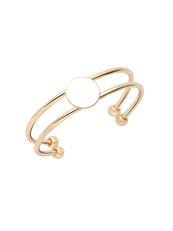 Shein Gold Plated Double Layer Wrap Bangle