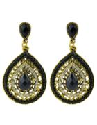 Shein Beads Black Hanging Earrings