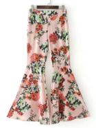 Shein Floral Print Flare Pants