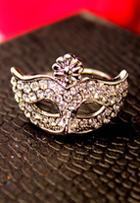Shein Gold Diamond Mask Ring