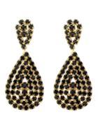 Shein Black Rhinstone Drop Earrings