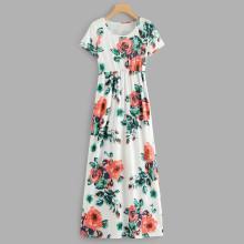 Shein Random Florals Maxi Dress