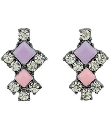 Shein Multicolor Gemstone Stud Earrings