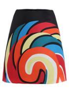 Shein Spiral Circle Print Skirt