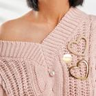 Shein Open Heart Shaped Brooch