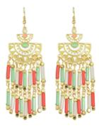 Shein Long Colorful Bead Drop Earrings