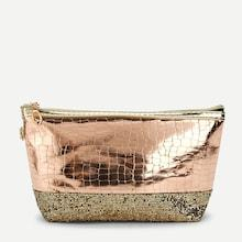 Shein Sequin Decorated Crocodile Pattern Makeup Bag