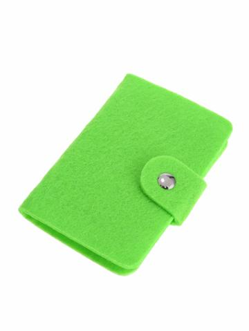 Shein Green Felted Wool Pouch Id Credit Card Bag