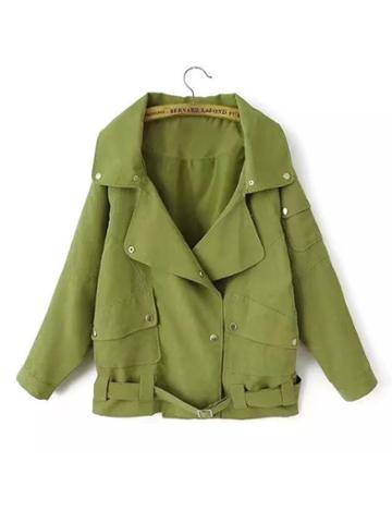 Shein Military Jacket With Belt