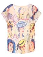 Shein Avatar Print Dolman Sleeve T-shirt