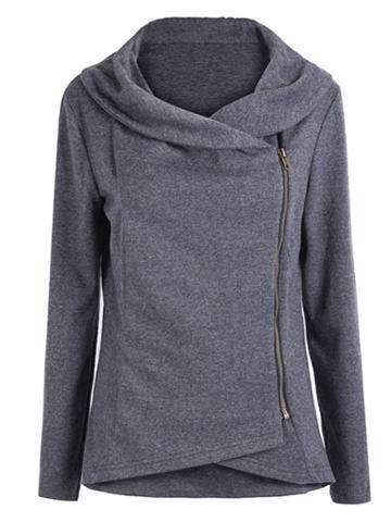 Shein Asymmetric Zip Outerwear