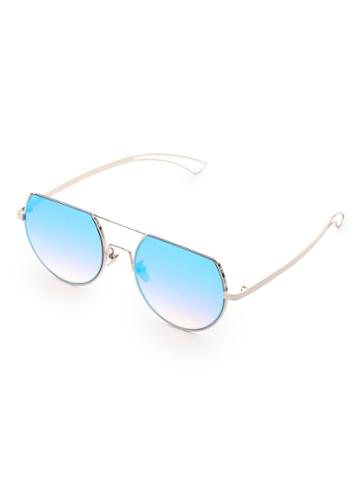 Shein Flat Top Double Bridge Round Sunglasses
