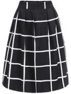 Shein Elastic Waist Plaid Skirt