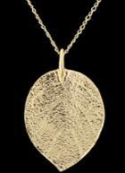 Shein Gold Leaf Pendant Necklace