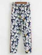 Shein Contrast Floral Print Pants