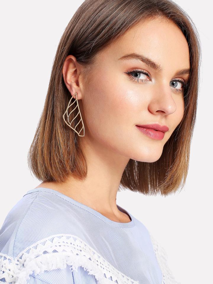 Shein Hollow Design Metal Drop Earrings