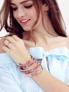 Shein Colorful Multilayer Beaded Crochet Bracelet