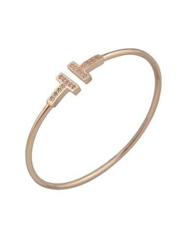 Shein Gold Color Elegant Rhinestone Thin Metal Bracelets Bangles