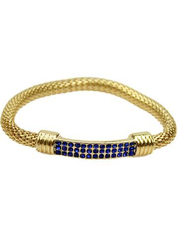 Shein Blue Crystal Chain Bracelet