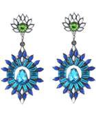 Shein Blue Drop Gemstone Silver Earrings
