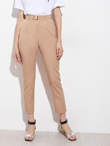 Shein Tapered Leg Pants With Belt