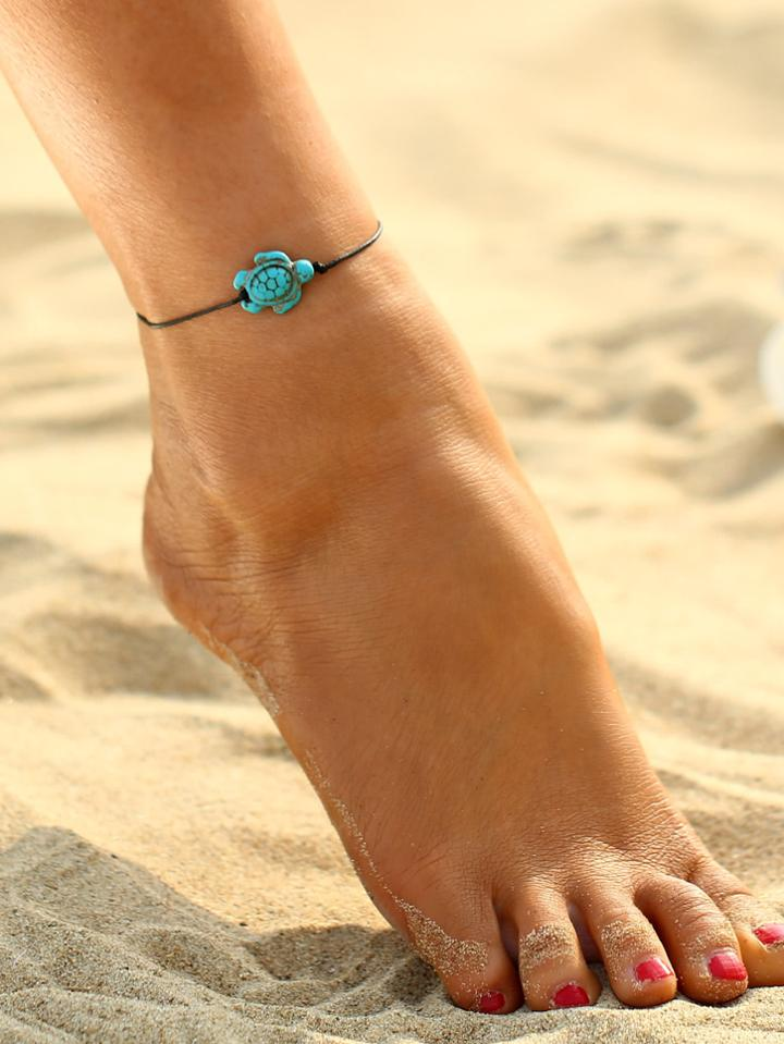Shein Turtle Charm Anklet