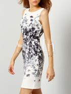 Shein Sleeveless Floral Print Dress