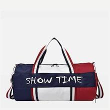 Shein Slogan Patch Bowling Bag