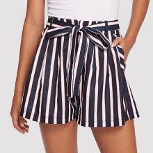 Shein Striped Wide Leg Shorts