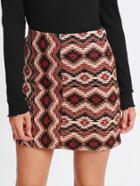 Shein Geo Pattern Fitted Skirt