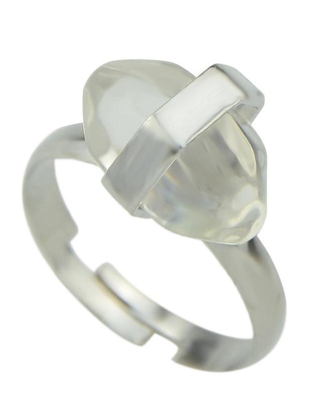 Shein White Gemstone Adjustable Rings