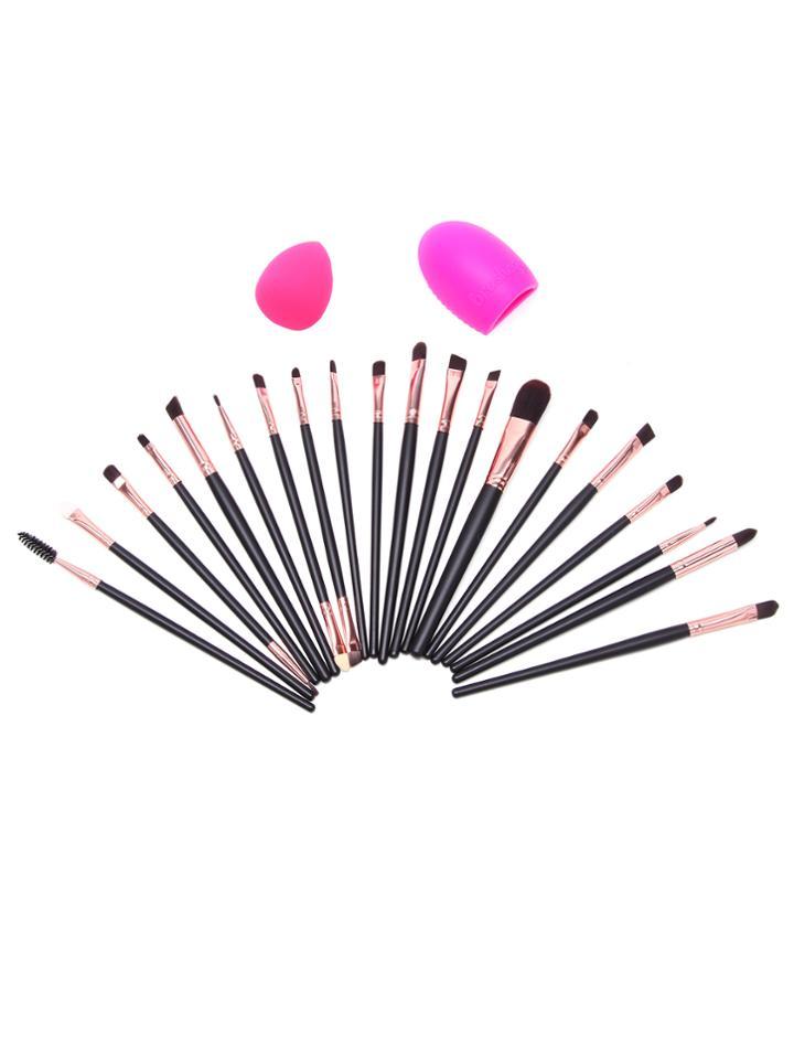 Shein 22pcs Brush Cleaning Brush Makeup Brush Makeup Tool Set
