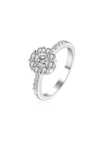 Shein Rhinestone Embellished Flower Ring