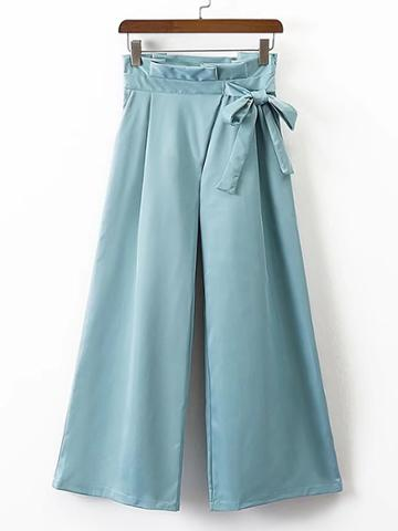 Shein Wide Leg Pants With Bow Detail