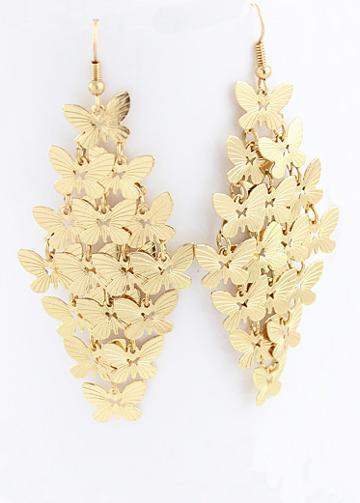 Shein Elegant Butterfly Design Alloy Drop Earring