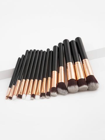 Shein Two Tone Handle Makeup Brush Set 15pcs