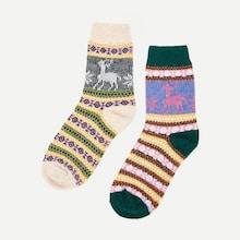 Shein Christmas Fair Isle Pattern Socks 2pairs