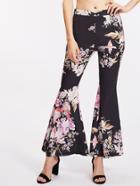 Shein Botanical Print Flared Pants