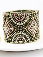 Shein Vintage Gold Crystal Bead Bracelet