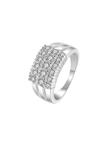 Shein Three Row Rhinestone Decorated Ring
