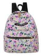 Shein Calico Print Canvas Backpack