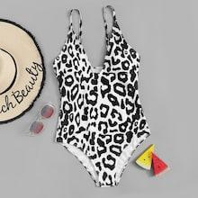 Shein Random Leopard Swimsuit