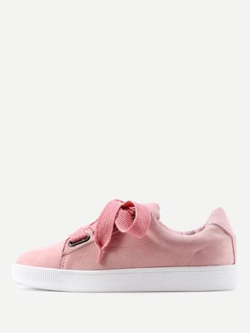 Shein Lace Up Low Top Sneakers