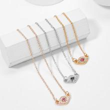 Shein Rhinestone Pendant Necklace Set 3pcs