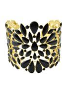 Shein Black Enamel Wide Cuff Bracelet