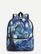 Shein Galaxy Print Canvas Backpack