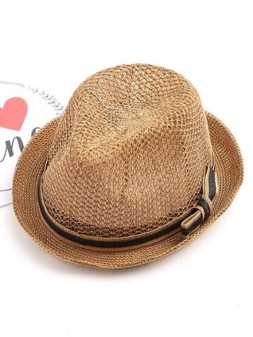 Shein Bow Band Straw Fedora Hat