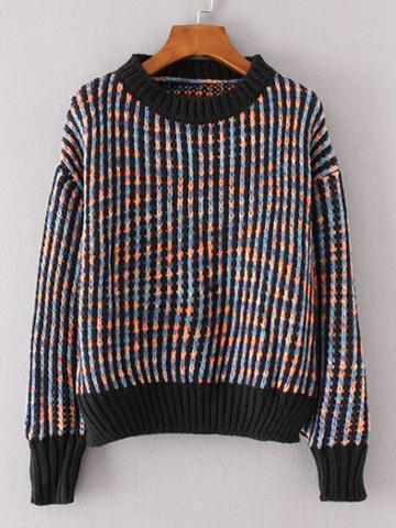 Shein Contrast Trim Jumper Sweater