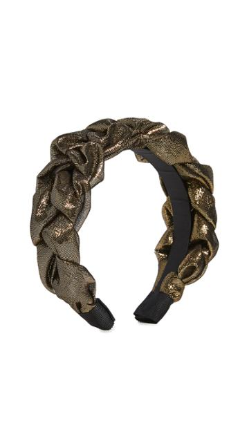 Jennifer Behr Lorelei Headband In Lame